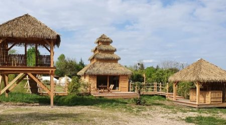 Cabane Indonésienne Domaine Ecotelia